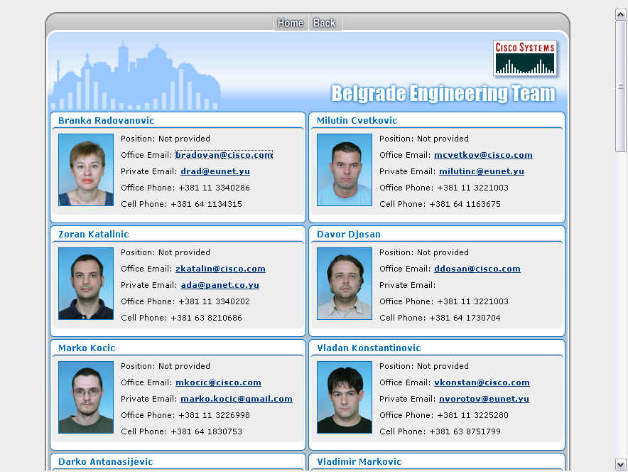 Cisco Belgrade Engineering Portal